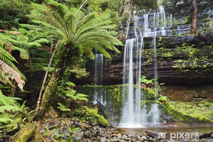 Vinyl Fotobehang Tas Mt Field Cascade Voorzijde - Watervallen