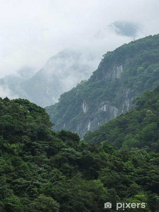 Taiwan Tropical Mountainscape Vinyl Wall Mural - Asia