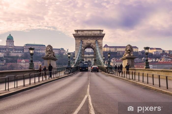 Naklejka Pixerstick Most Łańcuchowy w Budapeszcie - Europa