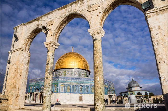 Dome of the rock in Jerusalem, Israel Vinyl Wall Mural - Asia