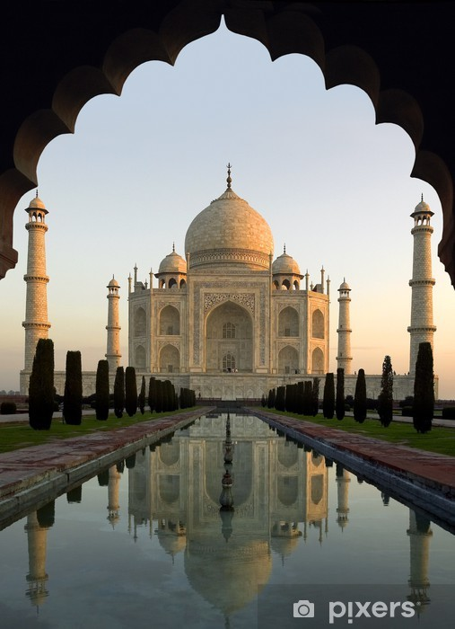 Taj Mahal at Dawn - Agra - India Pixerstick Sticker - Asia