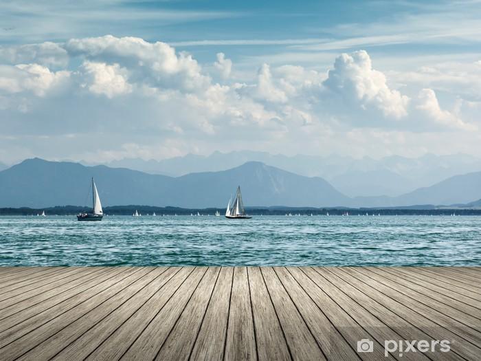 Papier Peint Autocollant Voile au lac de Starnberg - Europe