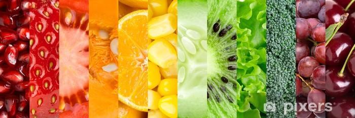 Sticker Pixerstick Collection de différents fruits et légumes - Pour cuisine