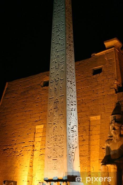 Obelisk in Luxor Pixerstick Sticker - Africa