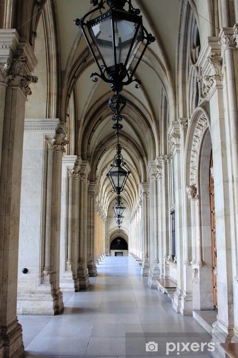 Fotomural Autoadhesivo Columnata en el Ayuntamiento de Viena, Austria -