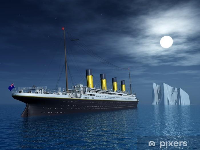 Titanic and Iceberg Vinyl Wall Mural - Boats