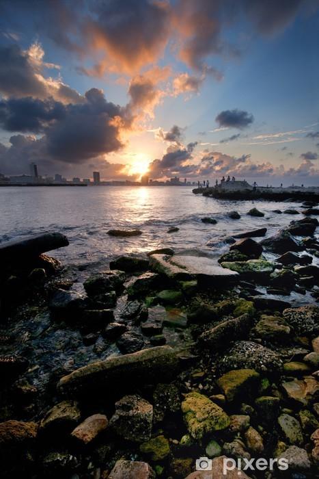 Naklejka Pixerstick Havana bay wejście na zachód słońca - Tematy