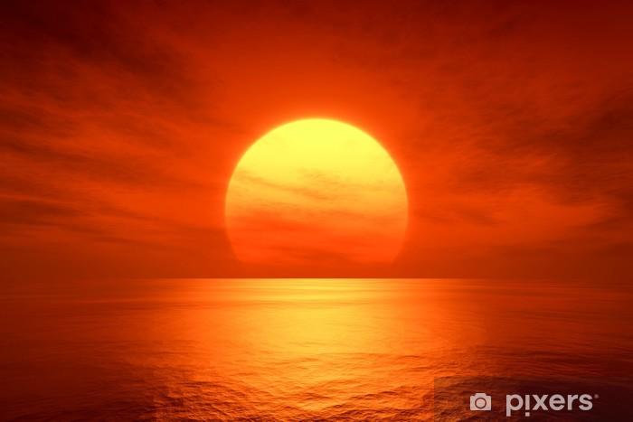 red sunset Vinyl Wall Mural -