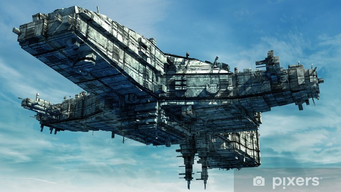 Naklejka Pixerstick 3d obcy ufo - Ezoteryka