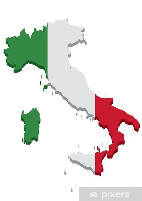 Mappa Italia Europa Sticker Pixers We Live To Change