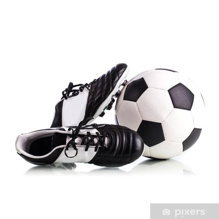 Naklejka na szafę Piłka i buty piłkarskie - Sporty drużynowe