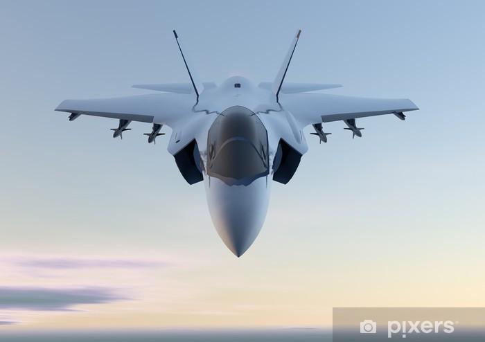 Papier peint vinyle Jet F-35 fighter jet plan - Thèmes