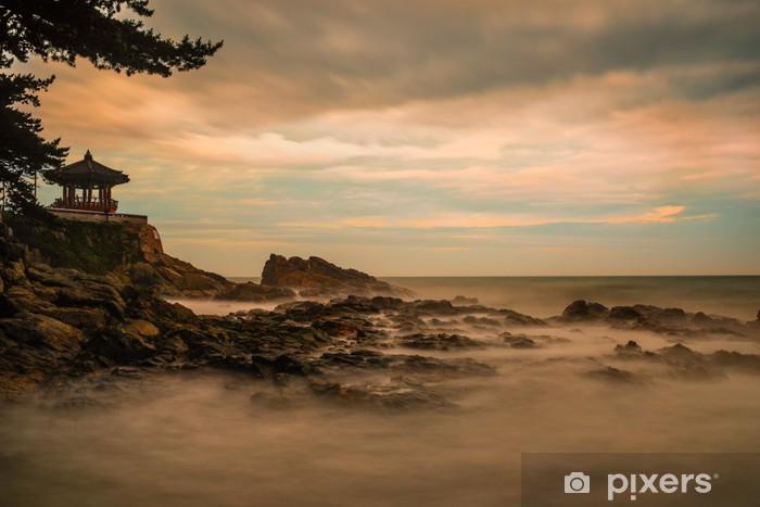 Naklejka Pixerstick Skalista sunrise - Woda