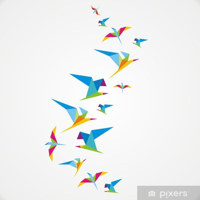 Sticker Pixerstick Oiseau -