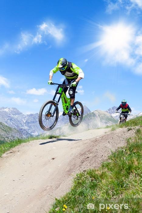 Sticker Pixerstick Concurrence de VTT - Cyclisme