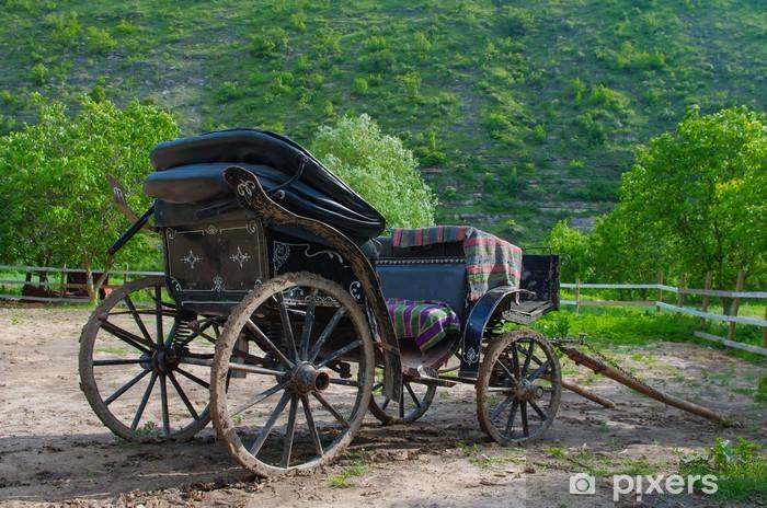 Nálepka Pixerstick Starý kůň přeprava v Moldavsku - Evropa