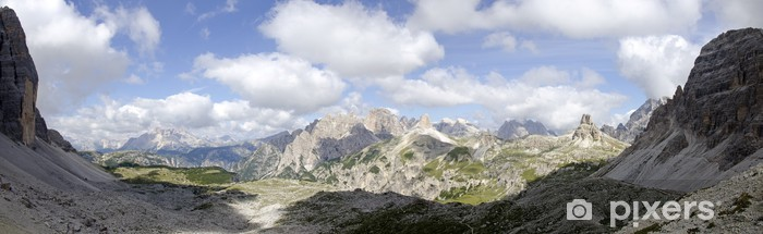 Naklejka Pixerstick Panorama Sexten Dolomitach - Panorama
