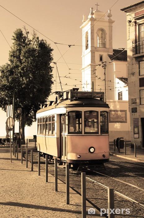 Lisbon tram Pixerstick Sticker -