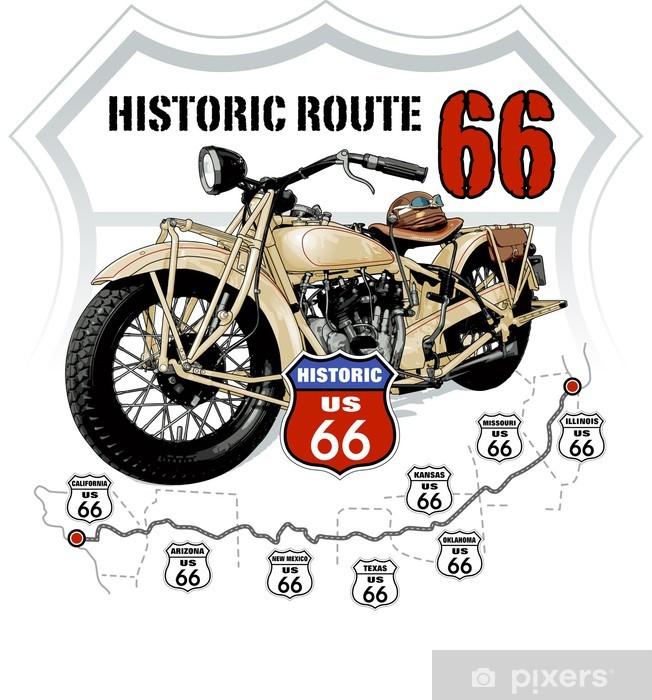 Pixerstick Sticker Historische Route 66 -