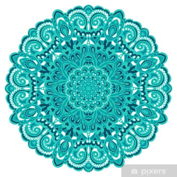 Ingelijste Poster Bloem Mandala. Abstract element voor ontwerp - Muursticker