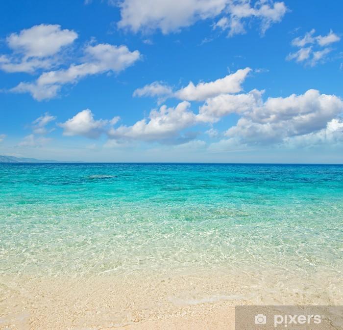 Nálepka Pixerstick Mraky nad Cala Mariolu pobřeží - Témata