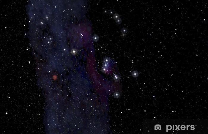 Sticker Pixerstick Orion constellation dans le ciel profond - Thèmes