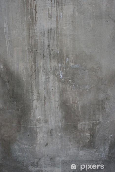 Fototapeta winylowa Pęknięty stary szary mur beton cementowy rocznika brudne - iStaging