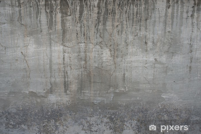 Naklejka Pixerstick Pęknięty stary szary mur beton cementowy rocznika brudne - Style