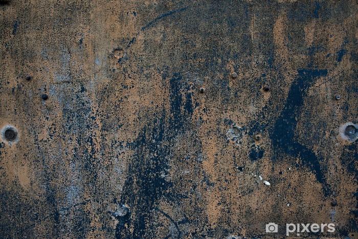 Papier peint vinyle Plaque vieux grunge rugueux fer oxidazed surface métallique corrodé - Styles