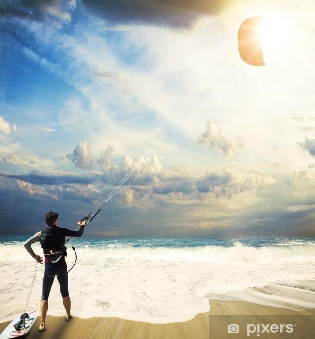 Fotomural Autoadhesivo Kitesurf en Lefkada Grecia - Deportes acuáticos