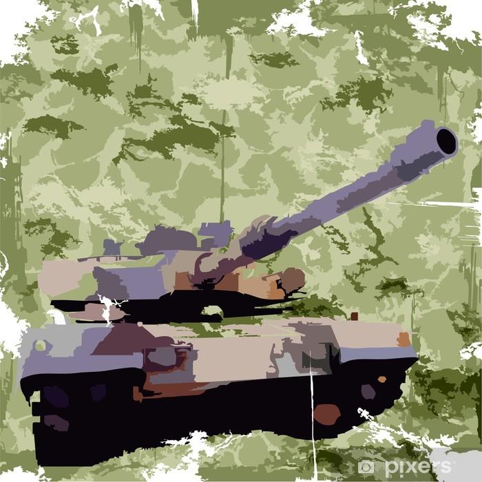Plakat Armia tło z zbiornika. drukowania odzieży. wektor - Tematy