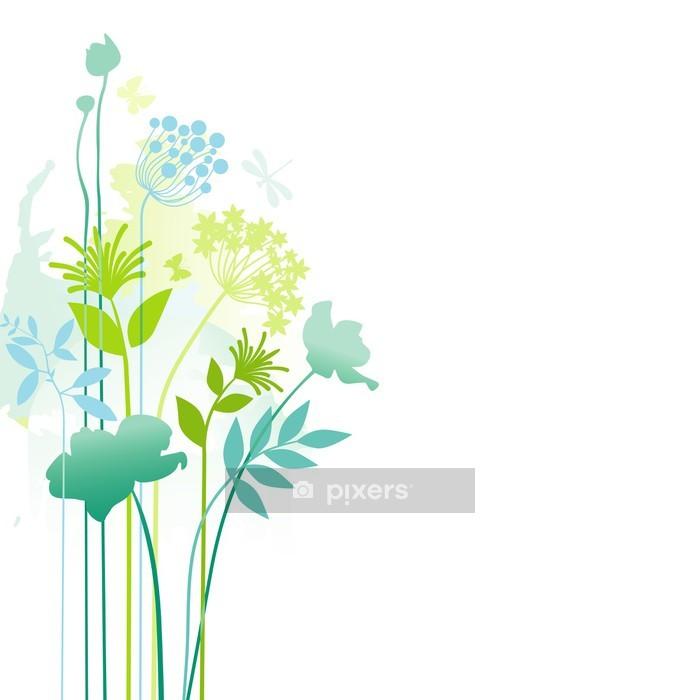Naklejka na ścianę Kwiatów rogu wystrój - Rośliny