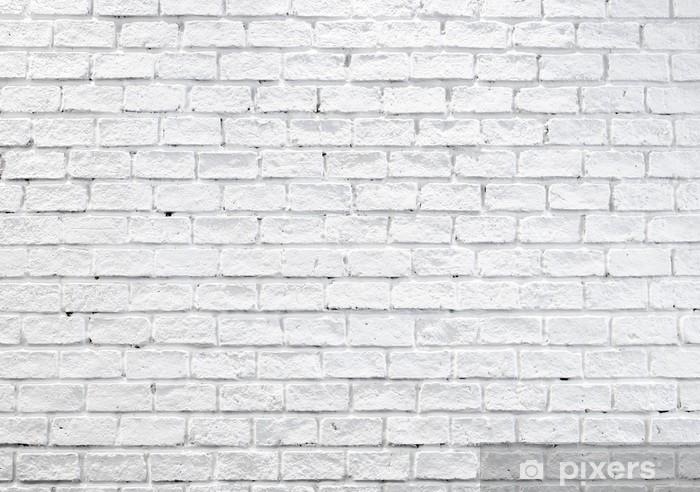 Fotomural Pared Blanca Brumosa De Ladrillo Para El Fondo O La