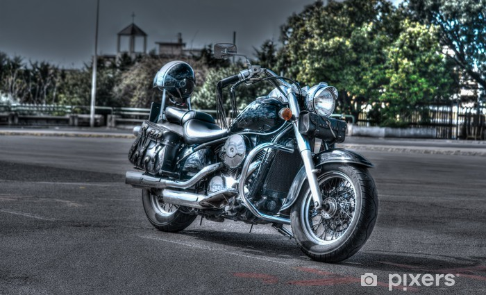 Nálepka Pixerstick Classic motocykl - Prázdniny
