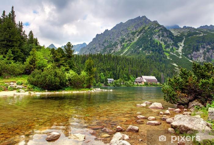 Sticker Pixerstick Popradske pleso - Slovaquie paysage de montagne à l'été - Thèmes