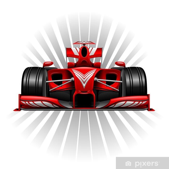 Vinil Duvar Resmi Formula 1 Red Araba Yarışı -