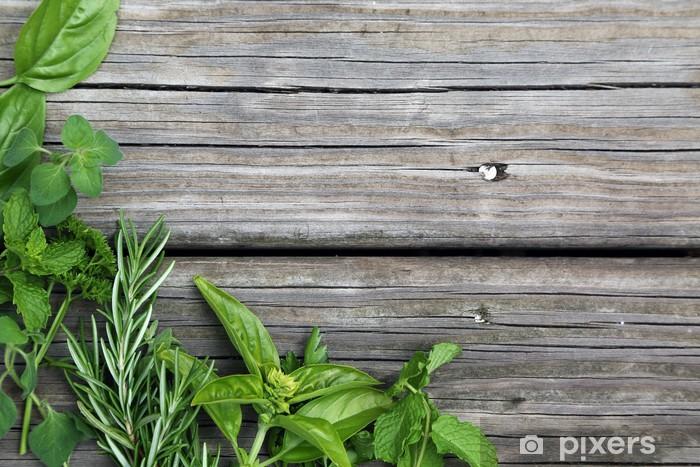 Zelfklevend Fotobehang Herbs - Kruiden