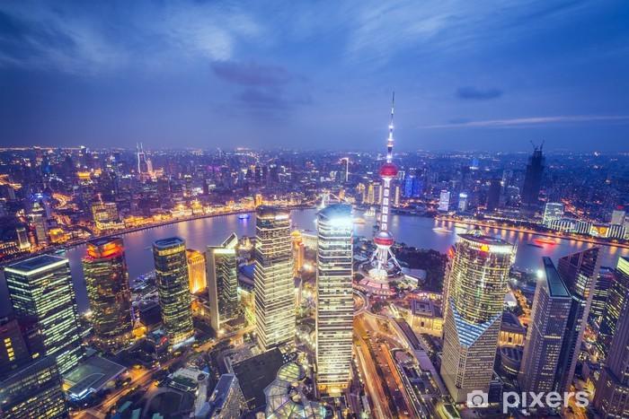 Vinilo Pixerstick Shanghai, China Vista aérea - Temas