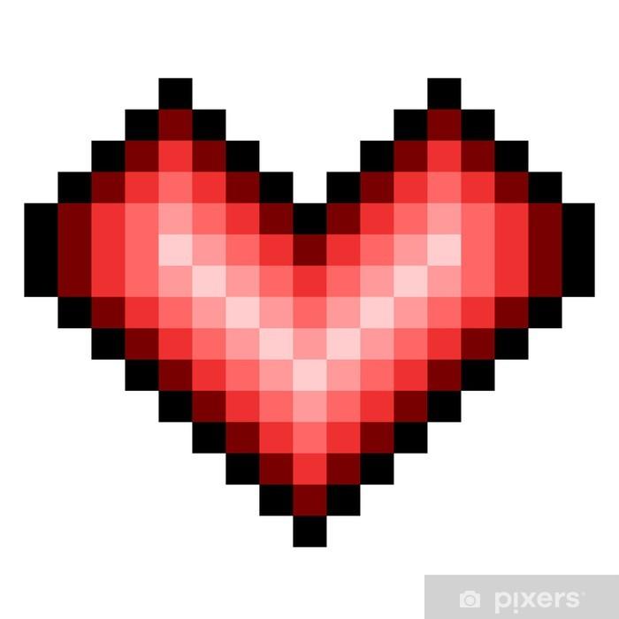 Papier peint Coeur Pixels • Pixers® - Nous vivons pour changer