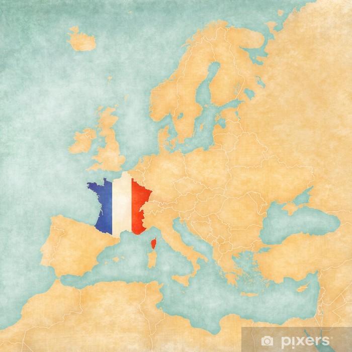 Fototapet Karta Over Europa Frankrike Vintage Series Pixers Vi Lever For Forandring