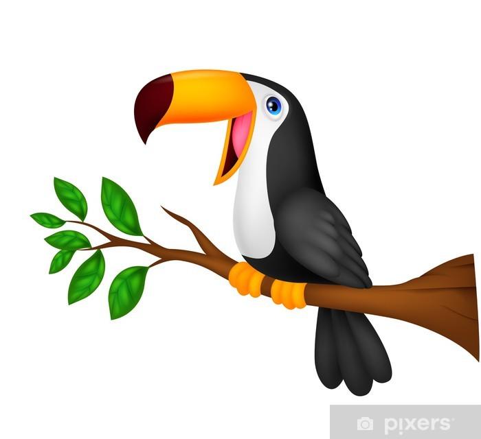 Papier peint vinyle Bande dessinée mignonne de toucan oiseau - Merveilles naturelles