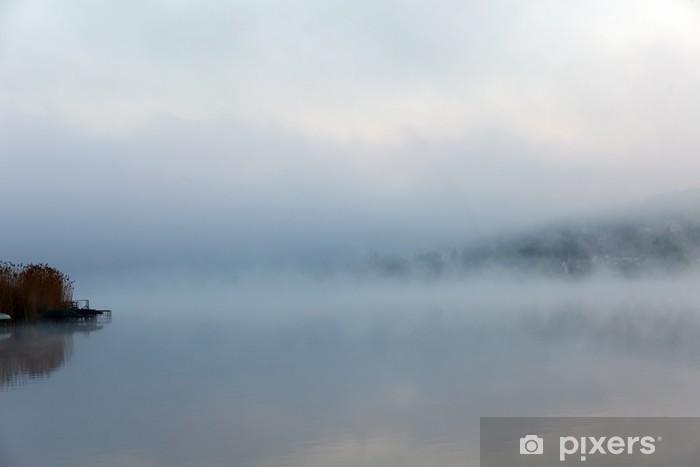 Vinylová fototapeta Portrét klidné mlhavé jezera - Vinylová fototapeta