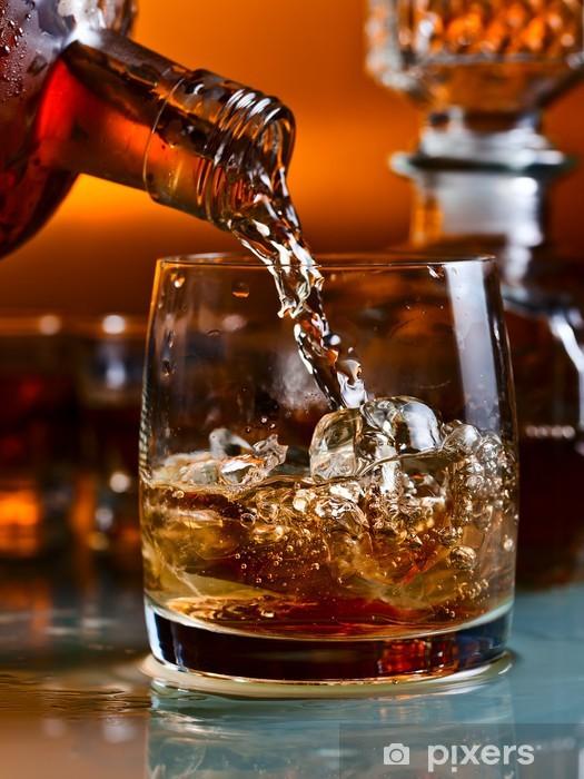 Sticker Pixerstick Verre de whisky - Alcool