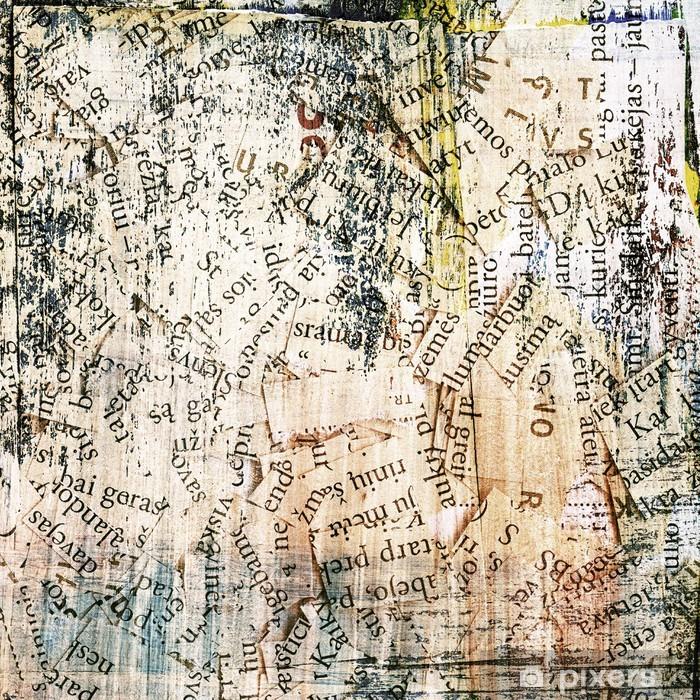 Vinilo Pixerstick Periódico, revista collage grunge fondo - Fondos