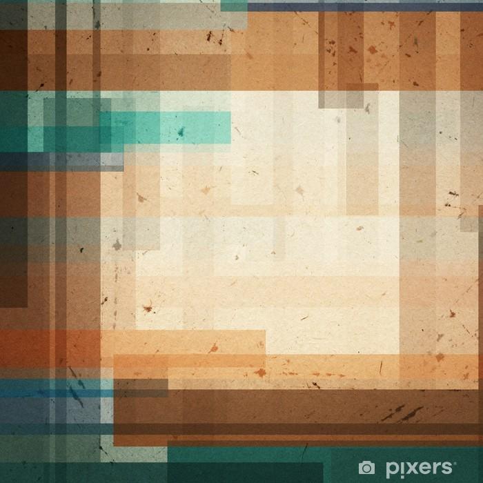 Naklejka Pixerstick Kolorowe geometryczne tle różnych kształtach - Tła