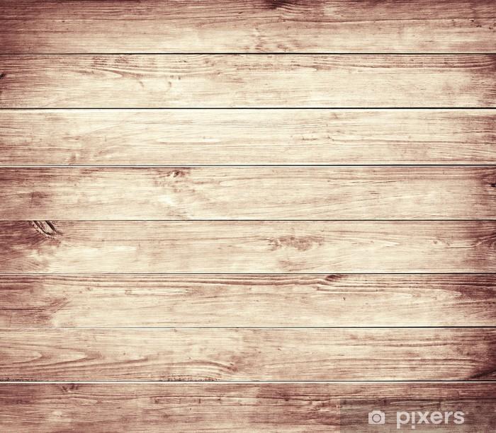 Poster Vecchie tavole di legno marrone trama. - Texture