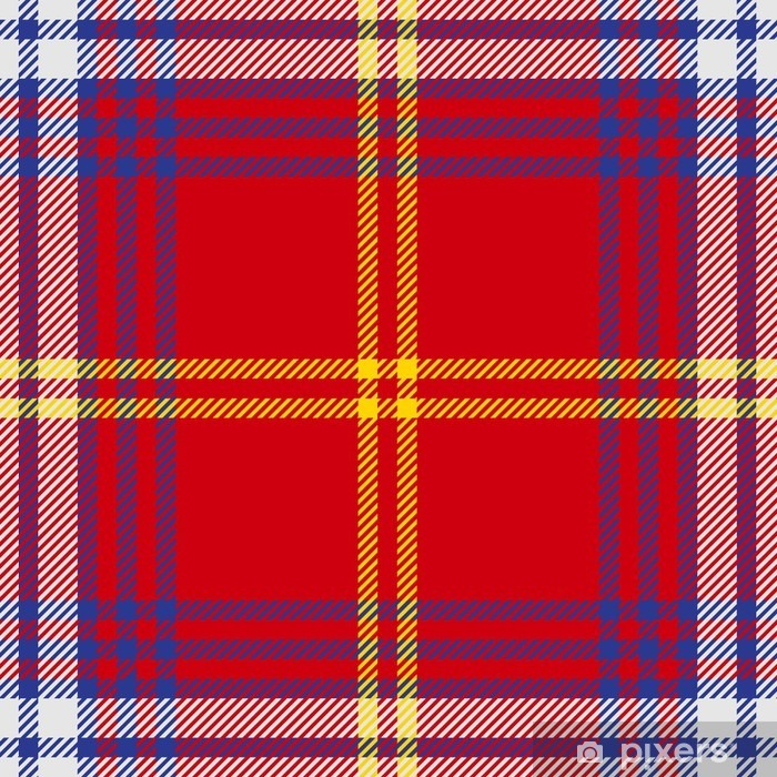 Vinilo para Nevera Vector patrón de tela escocesa de tartán sin fisuras - Recursos gráficos