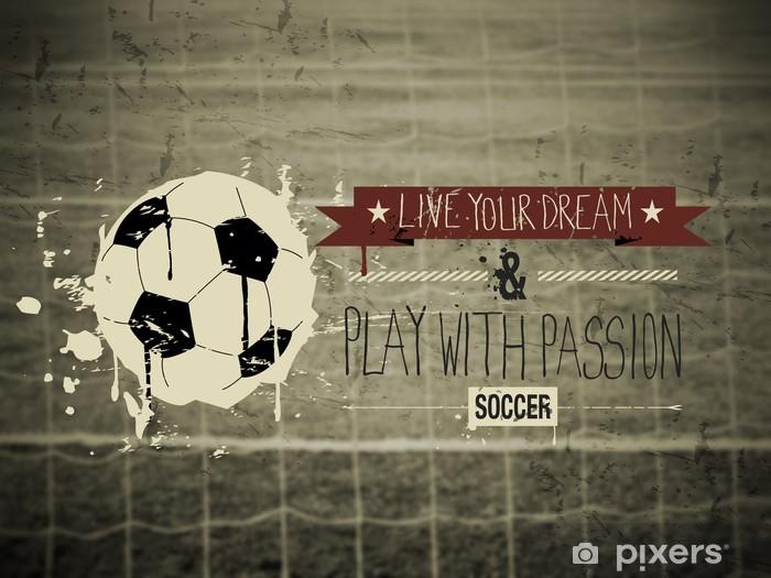 Vinyl Fotobehang Voetbal typografie citaat -