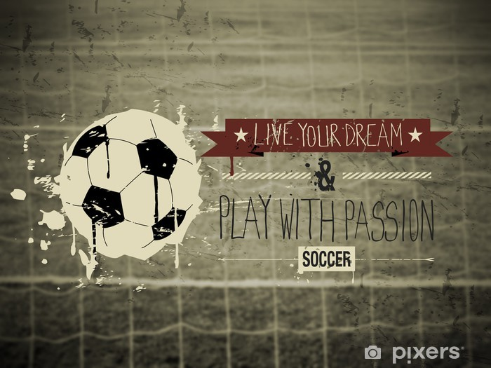 Soccer typography quote Vinyl Wall Mural -
