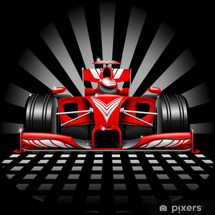 Vinil Duvar Resmi Formula 1 Red Yarış Arabası -